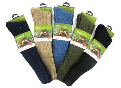 Kellys of Cornmarket Wexford Ireland Outdoor Wear Commando Socks
